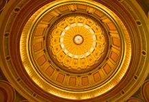 Capitol Dome, Sacramento California.  Details and color palette simplified.  2012