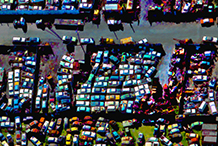 Auto Graveyard.  Color re-mapping and shape simplification.