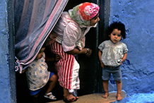 Mother and children.  Tangier, Morocco.  1977