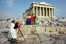 The Parthenon, Greece.  1974     (There was a plain old Polaroid camera inside the photographer's fancy red box.)